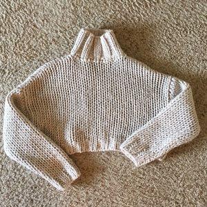 Zara chunky knit cropped sweater